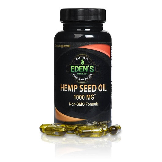 HEMPSEED OIL CAPSULES | 60 COUNT | 1000 MG | NON-GMO